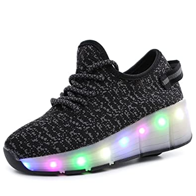 Amazon Com Party Shoes Boys Girls Single Wheel Light Up Roller