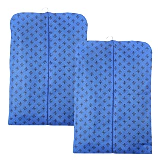 PrettyKrafts Foldable Non Woven Coat Cover (Set of 2 pcs) - Blue