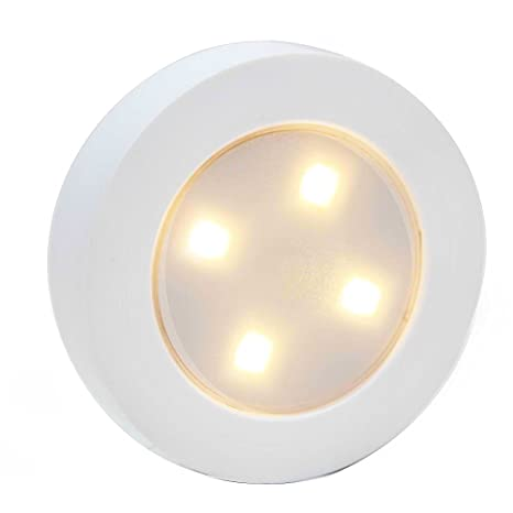 Great Closet Light Super Bright Tap Light Battery Operated LED Push Puck Night Light  Touch Stick On