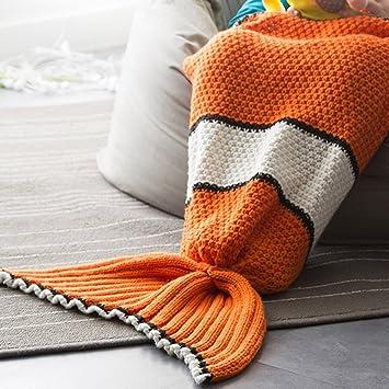 Neify - Kinder Clown Fischschwanz Meerjungfrau Schwanz Decke mit ...