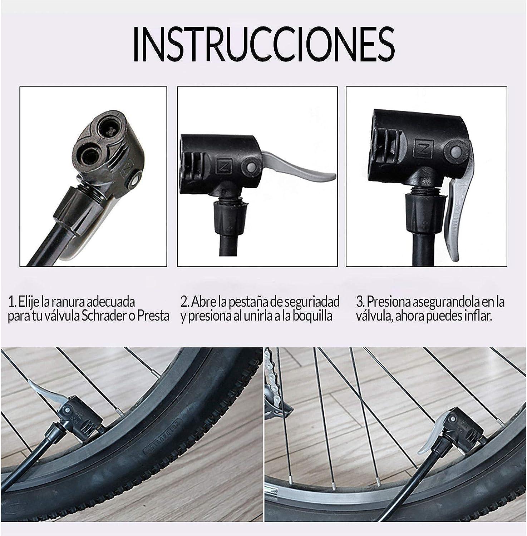 Buster INFLADOR HINCHADOR DE PIE para Bicicleta BALONES Ruedas ...
