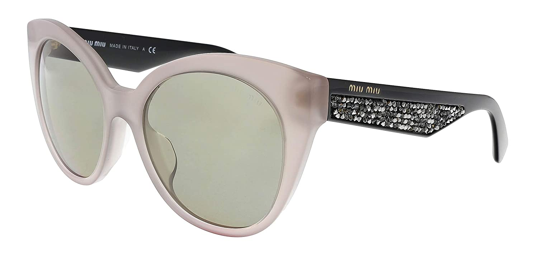 3720d32eb474 MIU MIU Sunglasses MU 07RSA UE25J2 Opal Argil 55MM at Amazon Men's Clothing  store: