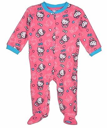 bc7f331db Hello Kitty Baby Baby Girls' Newborn Pink Microfiber Sleep and Play, 3-6