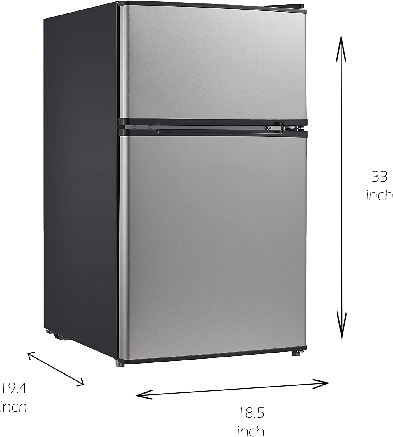 Emerson CR510WE 3.1 Cubic Foot Compact Double Door Refrigerator White