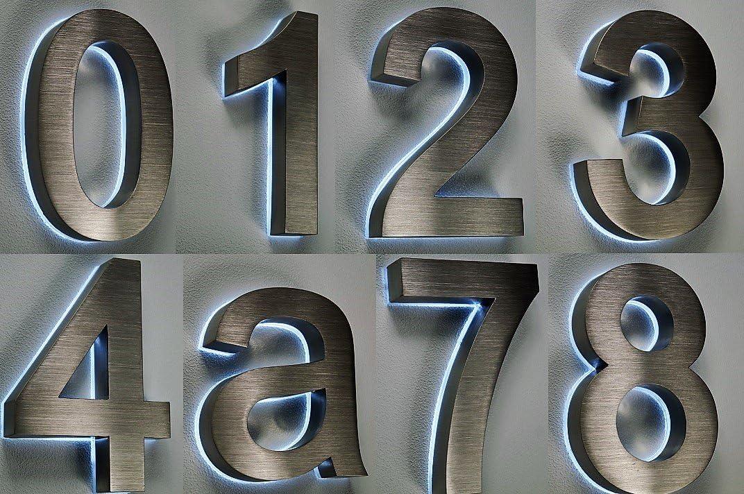 n/úmero de casa Acero Inoxidable n/º 1//H16/cm//Filigrana Texto//Arial en 3d de dise/ño//V2/A//solo 1/x gastos de env/ío para todas las Pedidos junto.