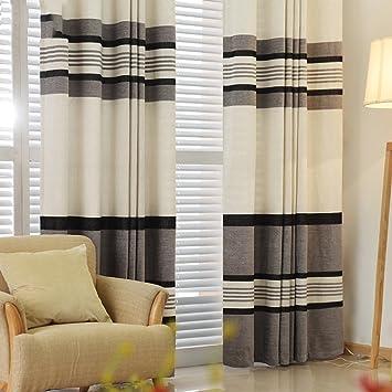 Met Love Noir et blanc rayures pleine ombre rideaux de plancher ...
