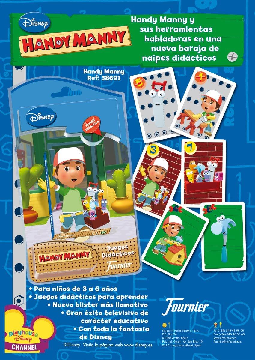 Naipes Heraclio Fournier Handy Manny: Amazon.es: Juguetes y ...