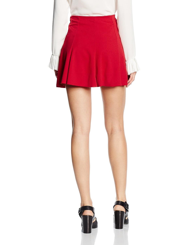 Les Sophistiquees Minigonna A Campana Falda, Rojo, S para Mujer ...