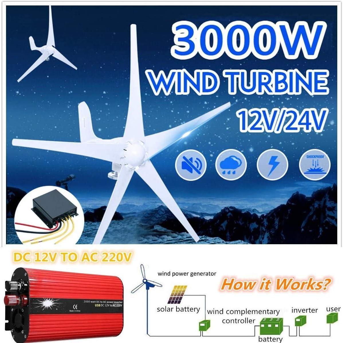 500W,500W YUYUKUAILAI Wasserdicht Windturbinen-Generator-Laderegler Regler 500W-2000W Auto Wechselrichter Spannungswandler 12V 220V