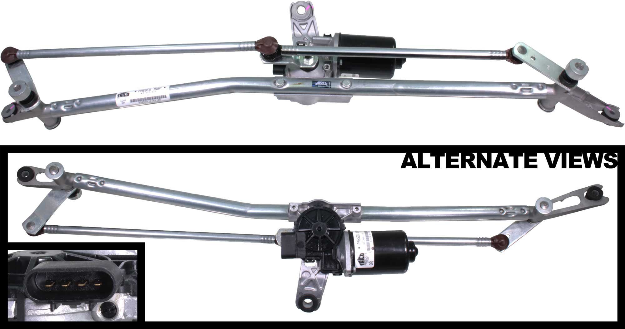 APDTY 103926 Windshield Wiper Motor And Linkage Transmission Complete Assembly For 2002-2004 Dodge Ram 1500 2500 3500 Pickup by APDTY