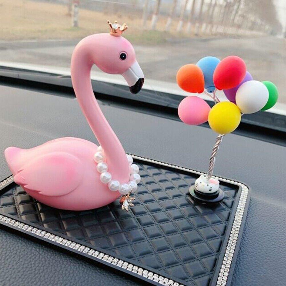 Krone Eye Greifen Fl/ügel Rund Vosarea Auto Deko Liebe Love Schmuck Vogel Flamingo Innen Auto Pink