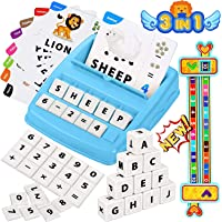 Educational Toys for 3-8year Old,3 in 1 Matching Letter Game & Number Matching Games for Kids, Alphabet Reading, Words…