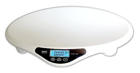 SWITEL BH700 Color blanco - Báscula para bebés (AA, Alcalino, 6 V)