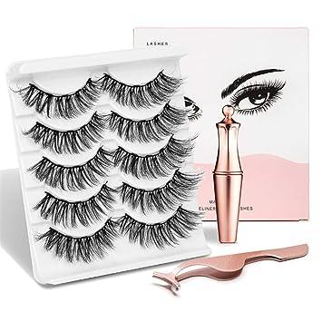 Amazon.com: Juego de delineador de ojos magnético 3D ...