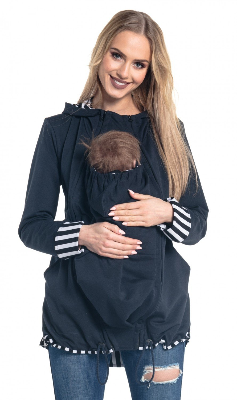 Happy Mama. Damen Sweatshirt Kängurutasche Langarm Still-Kapuzenpullover. 495p carrierhood_495