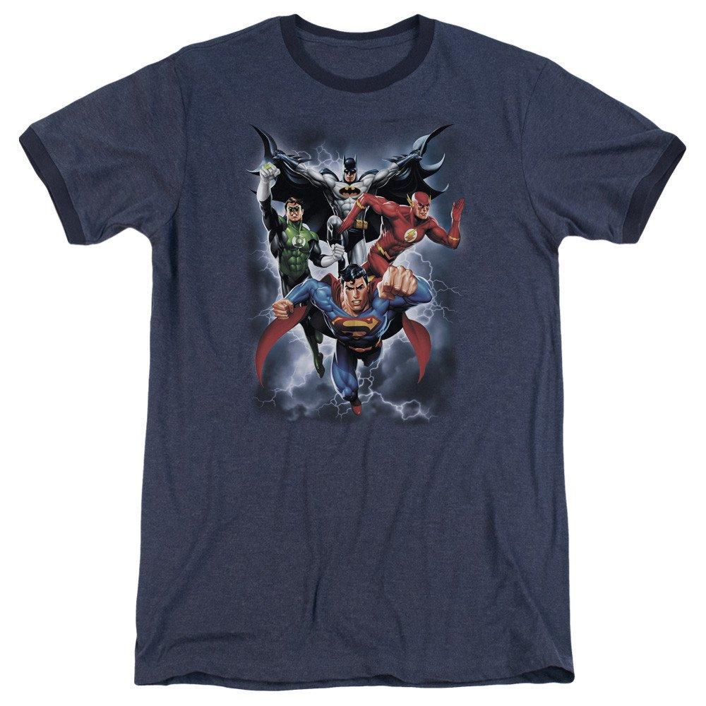 The Coming Storm Adult Ringer T Shirt Jla