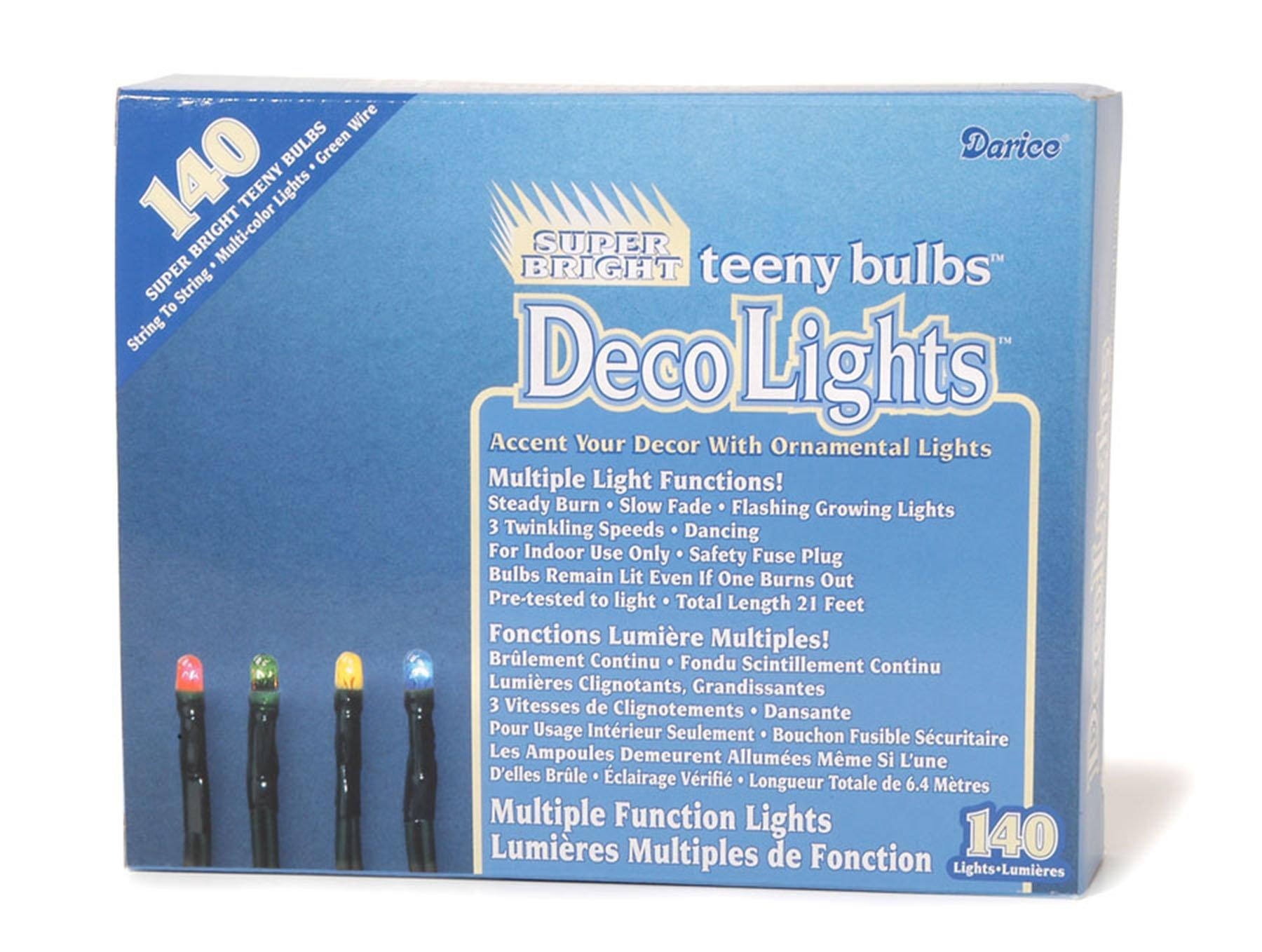Amazon.com: Darice DecoLights Teeny Bulbs Multi Function Clear with ...