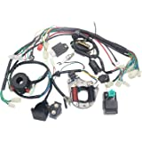 otohans automotive complete electric stator engine wiring harness loom with  full copper wire for 50cc 70cc