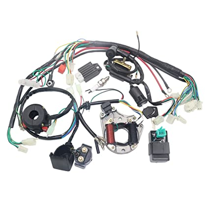 Amazon.com: OTOHANS AUTOMOTIVE Complete Electric Stator Engine ... on baja filter, baja 90 four wheeler, baja 50cc, baja 90 parts, baja 49cc, baja dirt runner, baja quad,