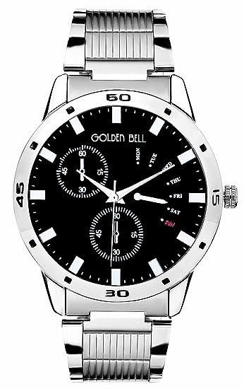 Golden Bell Audi analógico negro Dial hombres reloj de gb-375blkdstch: Amazon.es: Relojes