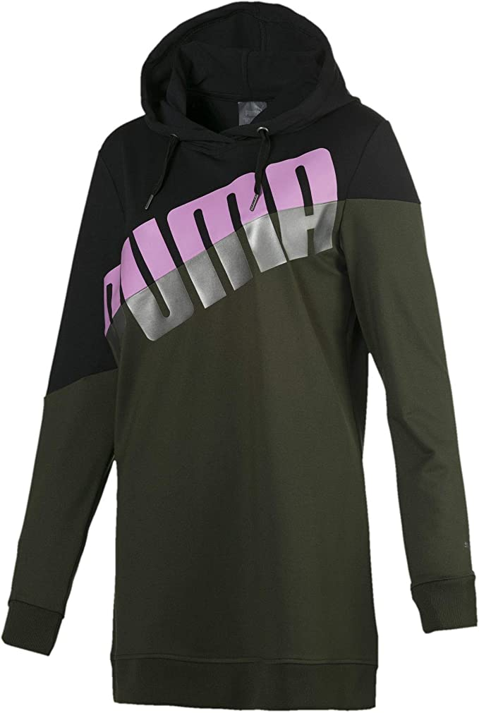 Puma A.C.E. Blocked Hoodie Damen puma black forest night