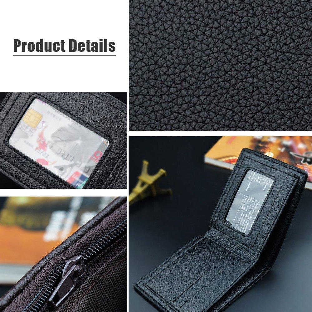 iVotre Wallet for Men Lightweight Bifold Purse Multi-Card Slots Picture Holder