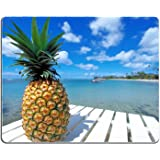 Rectangle mouse pad Diy Design Pineapple Beach
