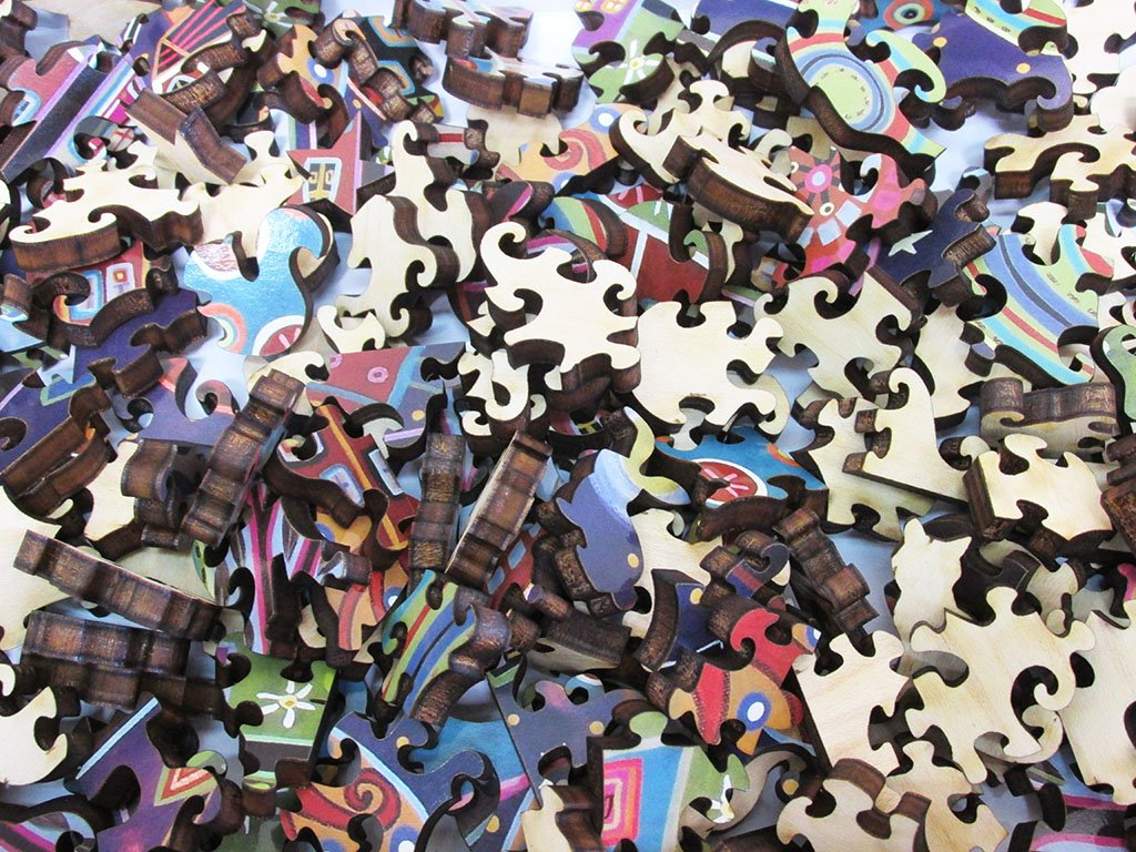 Karla Gerard Night Village Wooden Jigsaw Puzzle Artifact Puzzles