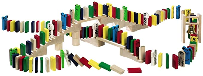 HABA Wooden Domino Race Set (Made in Germany)