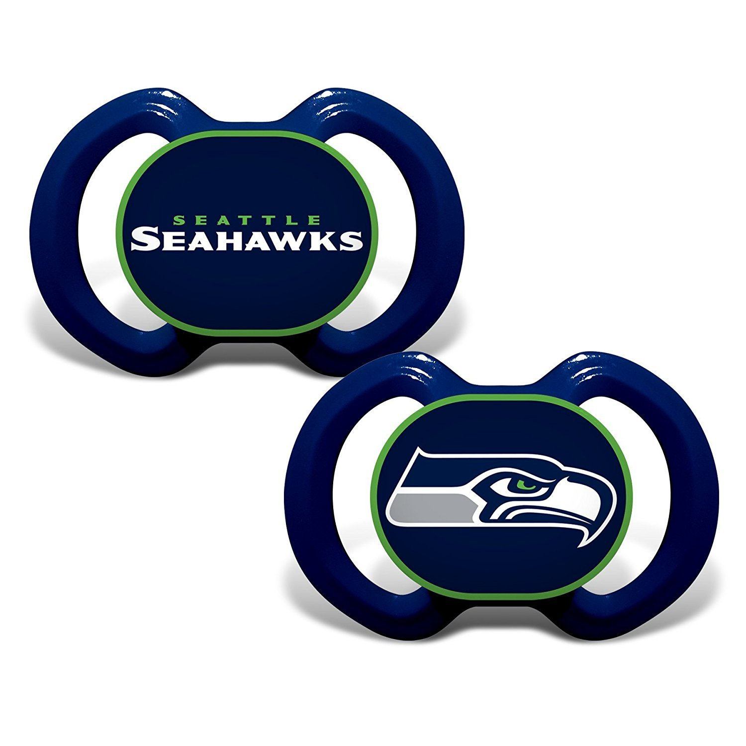 Baby Fanatic NFL Team Pacifier 2 Pack Seattle Seahawks