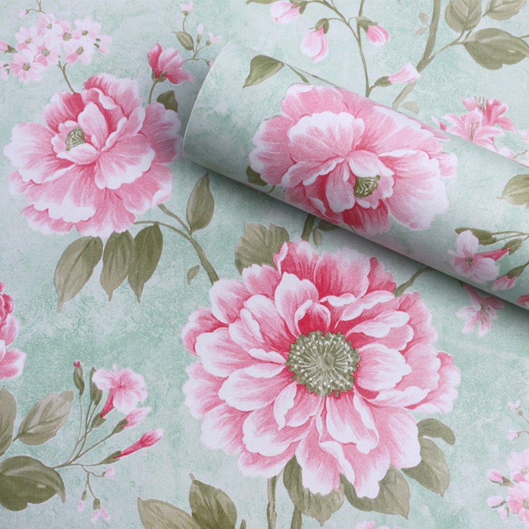 Papier adhésif à fleurs vintage amovible pour étagères, tiroirs, meubles, murs et loisirs créatifs (45x 200cm) murs et loisirs créatifs (45x 200cm) MagicValley GL001