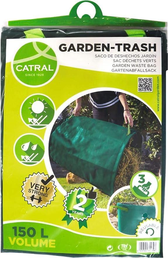 Catral 6020001 - saco de deshechos jardin + aro plastico para la entrada de bolsa 272 l: Amazon.es: Jardín