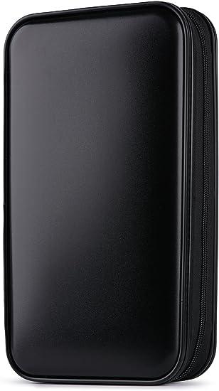 Porta CD,Coofit Estuche CD de 80 Disco Almacenamiento CD DVD Funda Protectora: Amazon.es: Electrónica