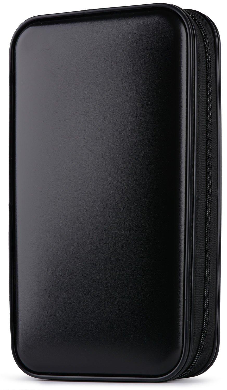 CD Case,Coofit 80 Capacity DVD Storage DVD Case VCD Wallets Storage Organizer Flexible Plastic Protective DVD Storage Black