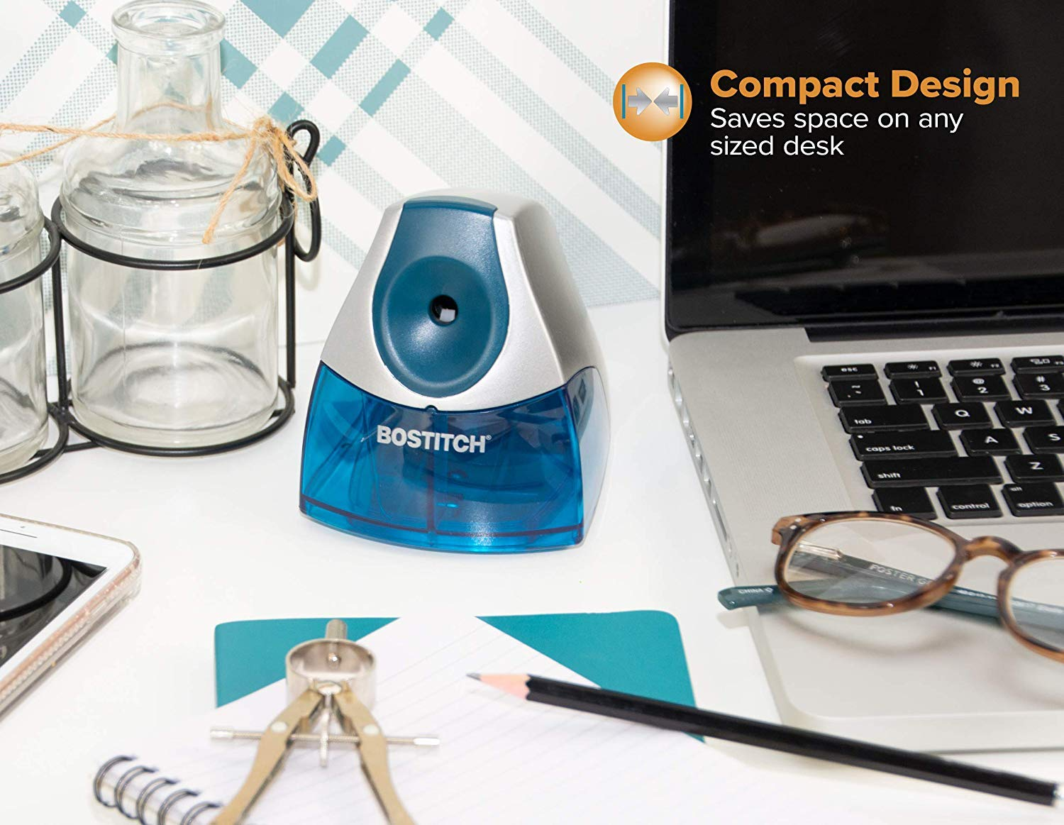 Bostitch Personal Electric Pencil Sharpener, Blue (EPS4-BLUE) - 5 Pack by Bostitch Office (Image #5)