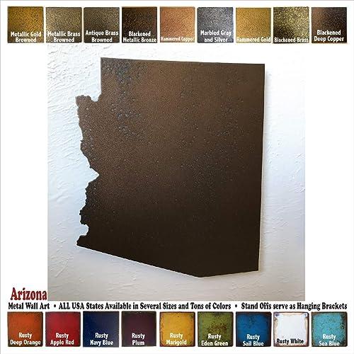 Amazon Arizona Metal Wall Art Choose 10 16 Or 22 Tall