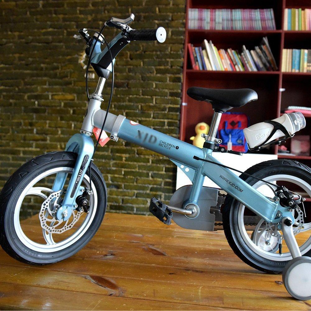 子供の自転車3-4-6-8歳の長さスケーラブルな男の子と女の子マウンテンベイビーキャリッジキッズバイク14 16インチホワイトイエローブルーピンク B07DXCYD9L 14 inch|青 青 14 inch