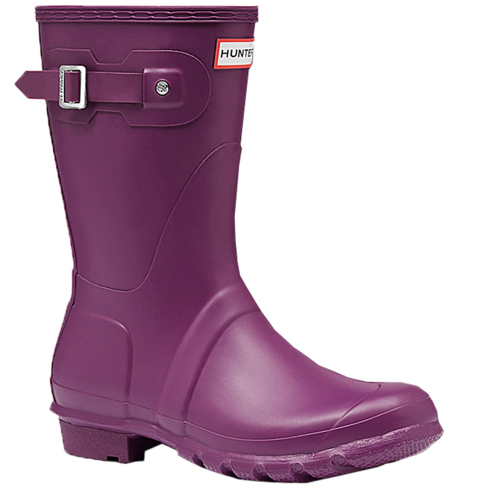 Hunter Womens Original Short Violet Rubber Boots 10 US