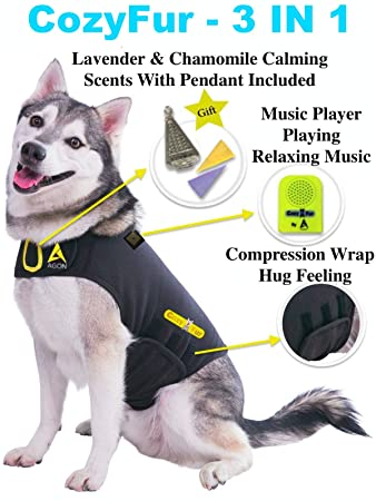 Amazon.com : CozyFur Patented Dog Anxiety Vest Calming Music Speaker