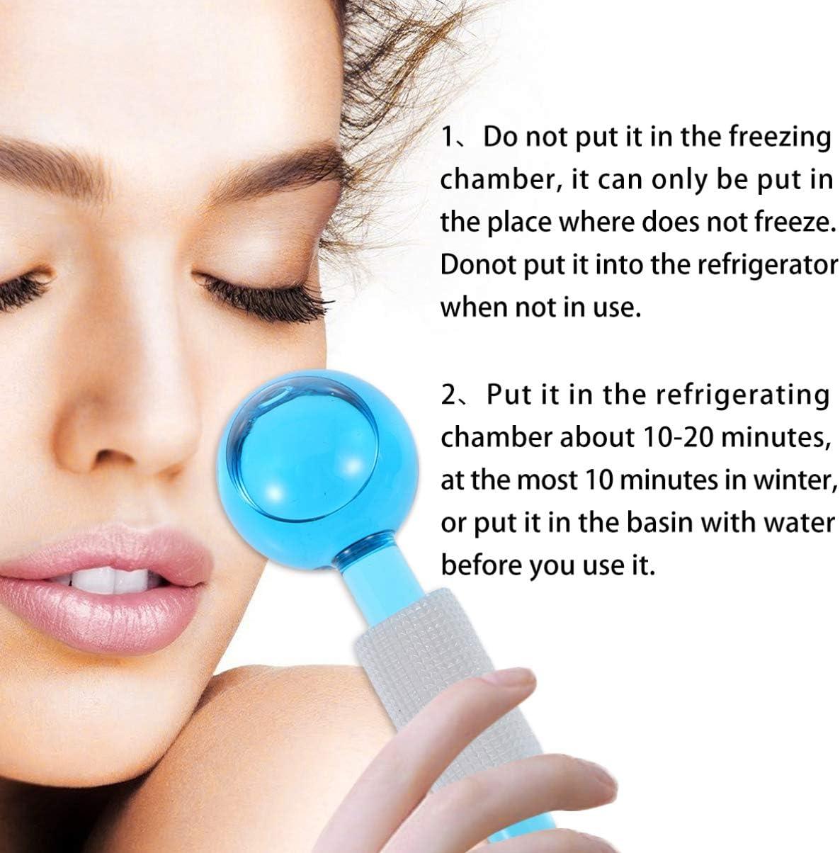Cool Roller Ball Magic Ice Facial Massager Fraicheur Facial Globe Skin Massagers 2pcs