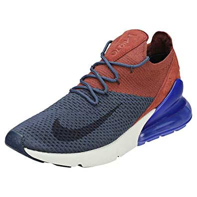 NIKE Herren Air Max 270 Flyknit Sneakers, Mehrfarbig (Thunder Blue  Gridiron Red 5c4c5a3a1a