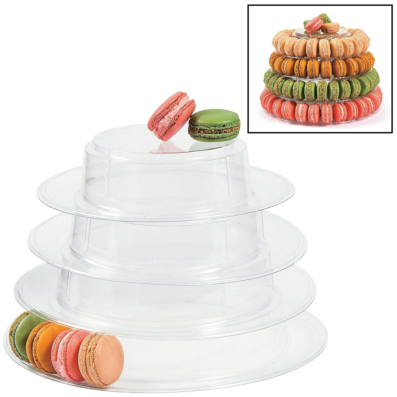 Plastic Macaroon Cookie Stand (9 1/2'' x 14'' diam.)