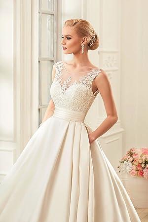 5033c90faf4f7 Amazon.co.jp: S C Live 「Wedding dress」 春夏 ウェディングドレス ...