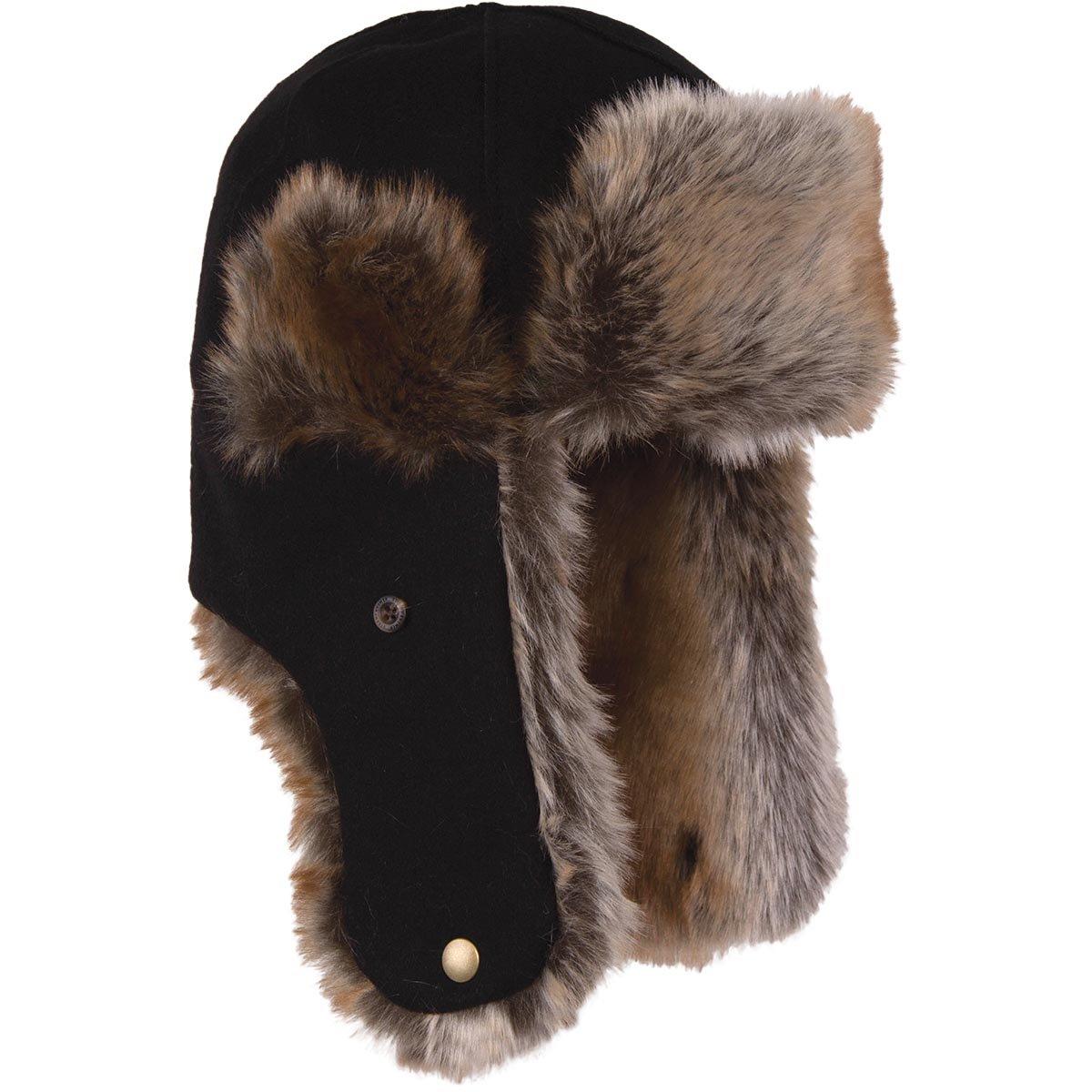 Stormy Kromer The Northwoods Trapper Hat, Color: Black, Size: Lg (51210-000060-2
