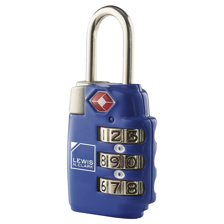 ルイスN.クラークTSA 3ダイヤルコンビネーションロック2パックブルー B000SL0402