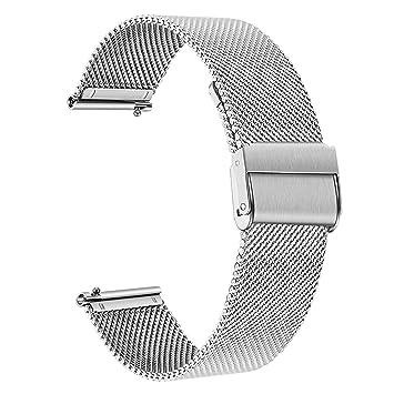 TRUMiRR Reemplazo para Garmin Vivoactive 3/3 Music Correa de Reloj, 20mm Banda de Reloj de Acero Inoxidable de Malla Tejida para Garmin Vivoactive ...