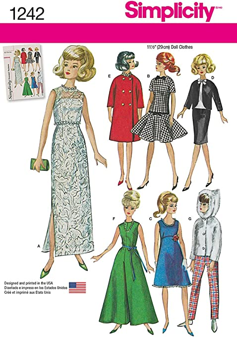 Vintage 1950/'s Sewing Pattern Girls Party Dress Size 4 /& Dolls Clothes Reporo
