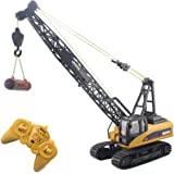 Fistone RC Truck Crawler Tower Crane Hoist Dragline Die-cast Model Lifiting Cable Remote Control Excavator Tractor…