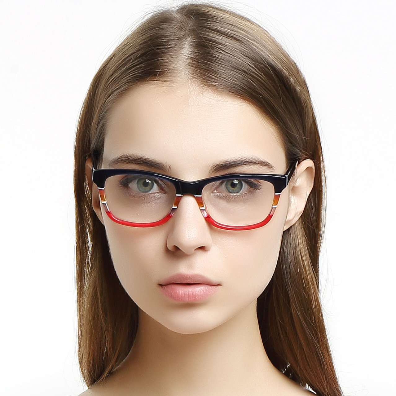 OCCI CHIARI Montatura per occhiali in plastica alla moda con cerniere a molla per le donne