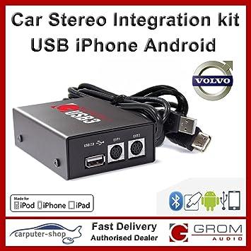 GROM Audio (USB3) USB media Android Samsung iPhone car stereo integration  kit for VOLVO S40 V40 S60 S70 V70 S80 XC70 with HU-xxx radio
